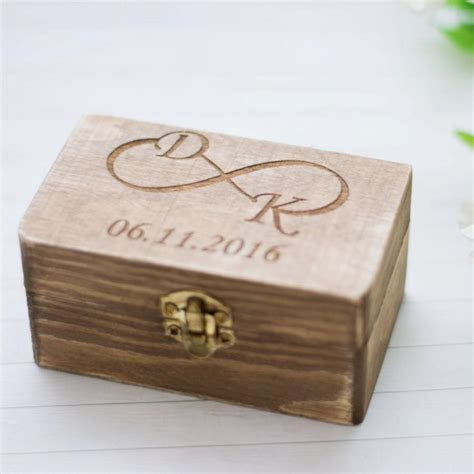 Wedding Ring Box Rustic Wedding Ring Holder Personalized
