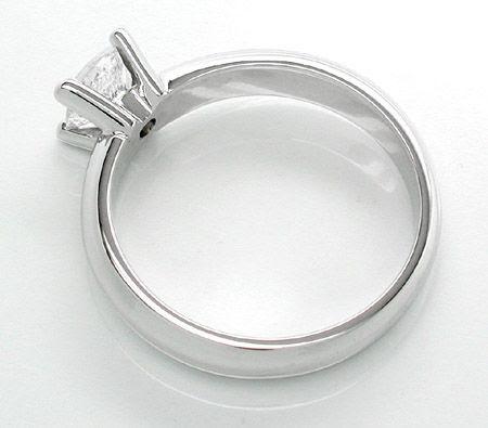 Foto 2, Neu! 0,75 Brillant-Solitär-Ring Weissgold massiv Luxus!, S8620