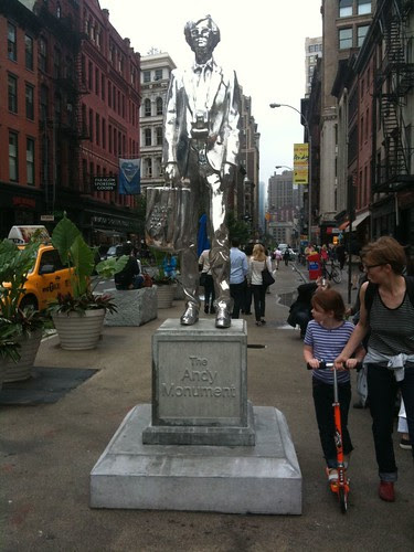 Andy Warhol's statue near Union Square