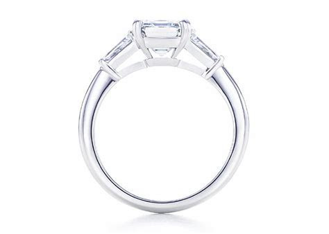 Engagement Rings/side view with baguettes or tapers