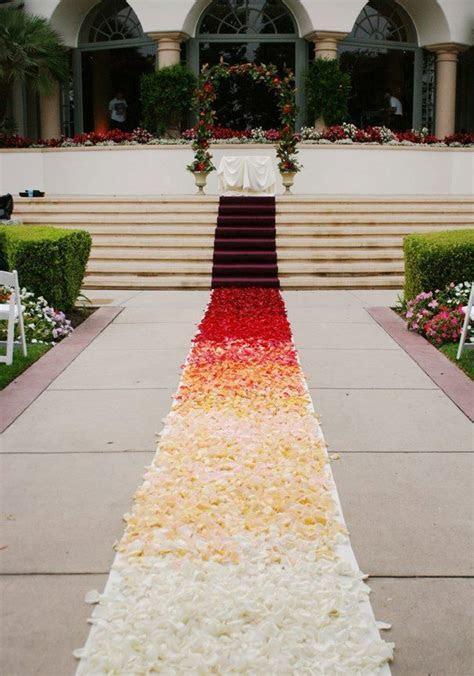 Ombre Aisle Runner, Custom design Flower Petals are not