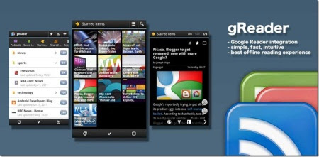 Aplikasi RSS Android greader