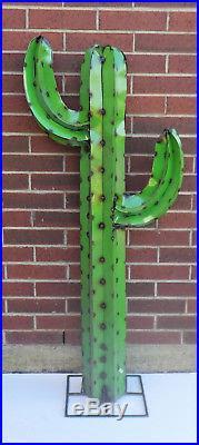 Metal Yard Art Saguaro Cactus Sculpture 4.5 Foot Tall
