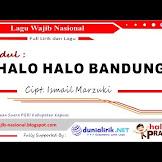 Lirik Lagu Halo Halo Bandung (Wajib Nasional) Ciptaan Ismail Marzuki