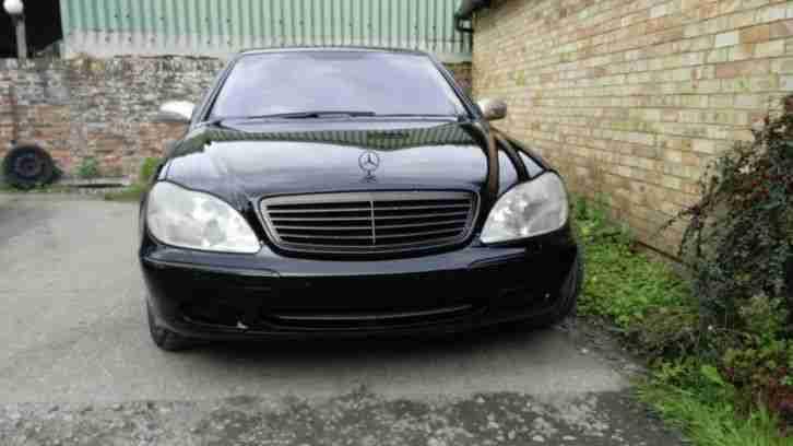 MERCEDES S500 2001 BLACK. car for sale