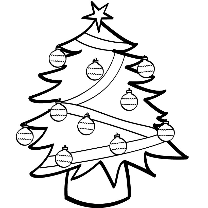 Free Christmas Tree Line Drawing, Download Free Clip Art ...