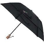 GustBuster Ltd Auto Open and Close Vented Compact Umbrella - Black one