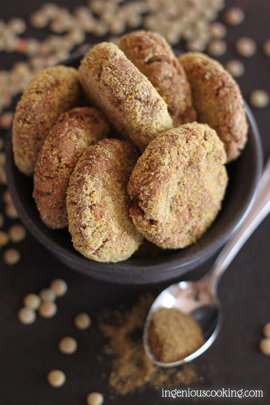 Oven baked lentil falafel - Nora's Ingenious Cooking