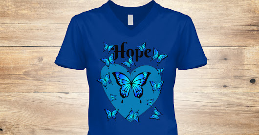 Blue Butterflies Hope T-shirt
