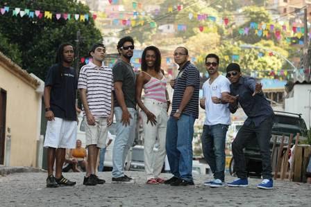 Jovens talentos do Vidigal: Robson, Kikito, Renan, Leandra, Wellington, Edson e Luiz Otávio