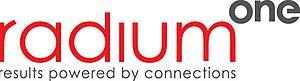 English: Company logo www.radiumone.com