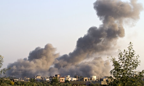Israeli air strikes on Gaza continue as US offers to broker ceasefire