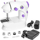 Best Choice Products Portable Mini Sewing Machine with Pedal & Push Switch, White