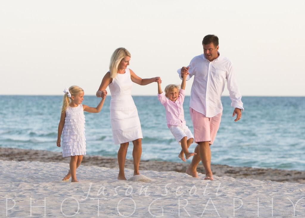 Family Beach Portraits on Siesta Key, Longboat Key, Englewood Beach, or Venice Beach by Jason Scott Photography