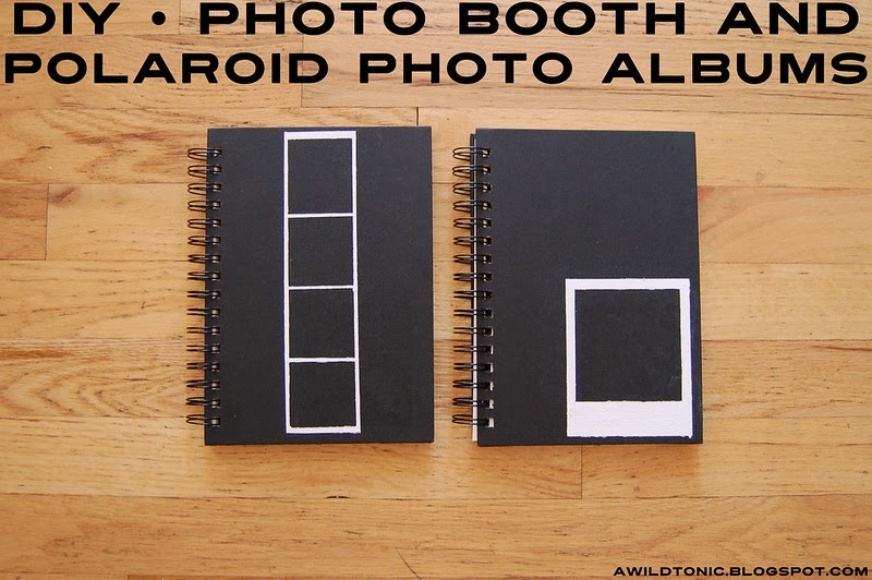 a wild tonic vintage diy photo booth and polaroid photo albums. Black Bedroom Furniture Sets. Home Design Ideas