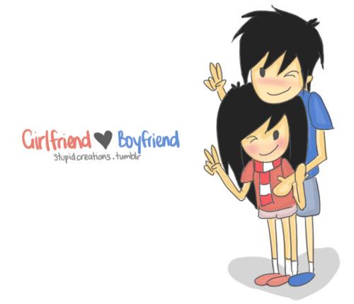 Cute Boyfriend And Girlfriend Drawings Love