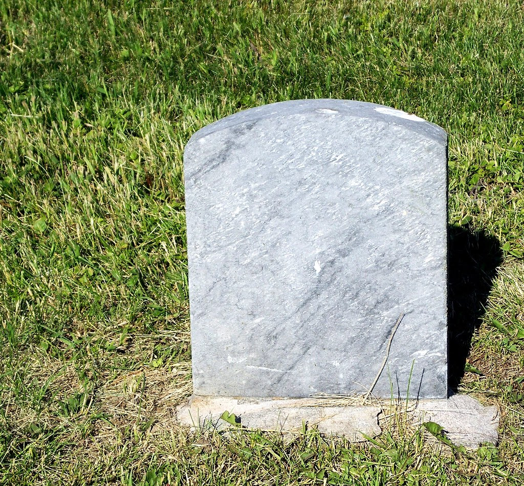 blank tombstone | Jo Naylor | Flickr