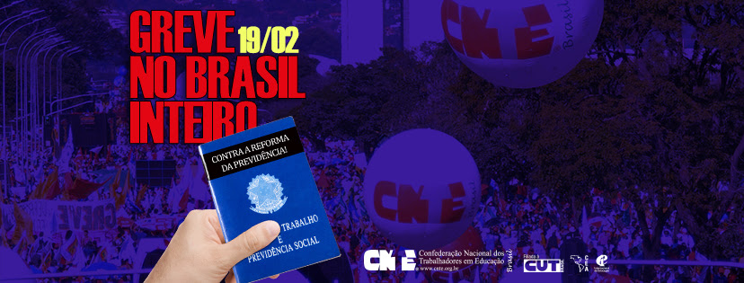 cnte greve nacional 19 fevereiro 2018 facebook capa