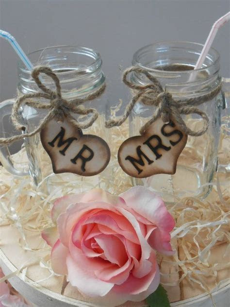 25  best ideas about Rustic wedding glasses on Pinterest