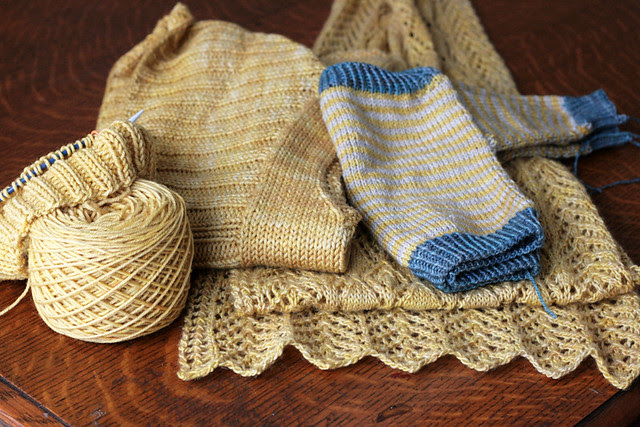 Golden knits