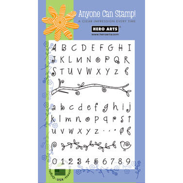 Hero Arts - Poly Clear - Clear Acrylic Stamps - Fanciful Swirl Alphabet, CLEARANCE