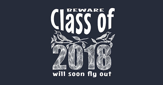 Beware - Class of 2018 will soon fly out ! T-Shirt - WHITE by colette