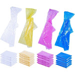 Kids Rain Ponchos - Pack of 20 Raincoats with Hood, Disposable Emergency Poncho, 4 Colors, 42 x 60 Inches
