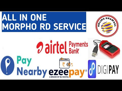 Ezeepay Digital Bhrat MORPHO SETTING YES BANK  AEPS + Fino AEPS