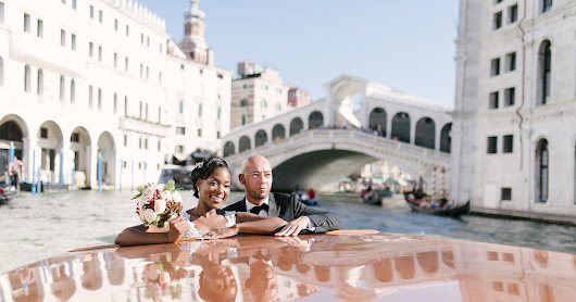 A romantic elopement to Venice