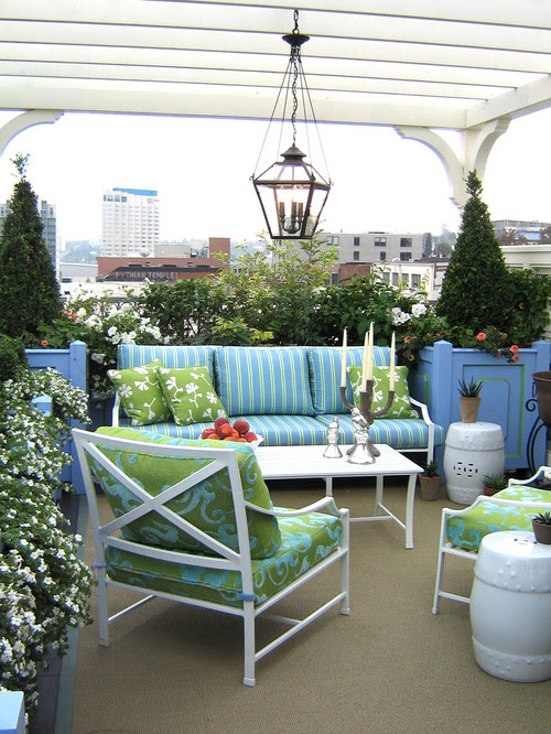 Rooftop Terrace traditional landscape