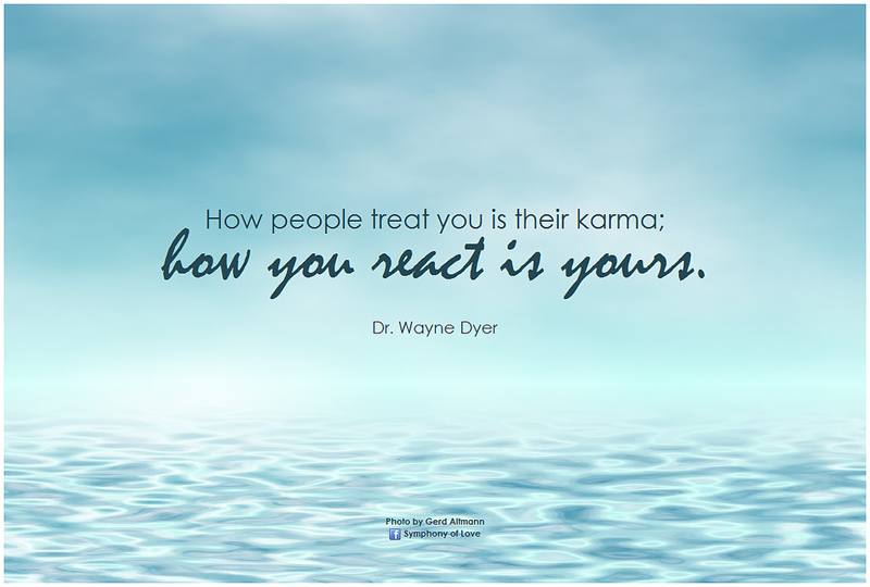 Quote How People Treat You Is Their Karma How You React Is Yours