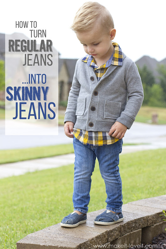 How to turn REGULAR Jeans...into SKINNY Jeans! | Make It and Love It