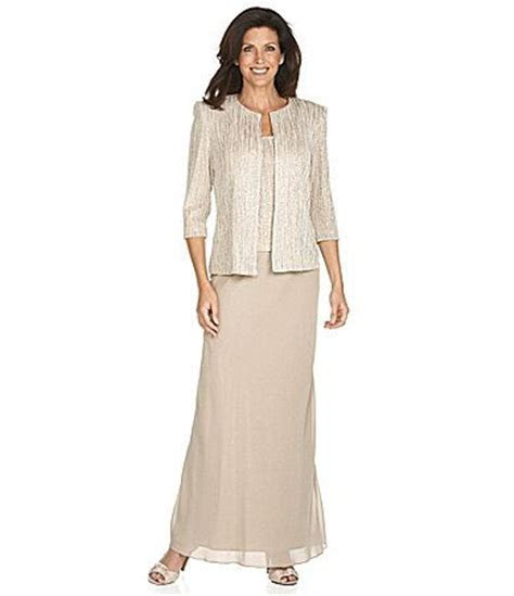 Alex Evenings Twin Set and Skirt Mother of the Bride dress