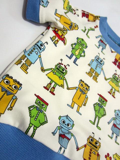 robot shirt detail