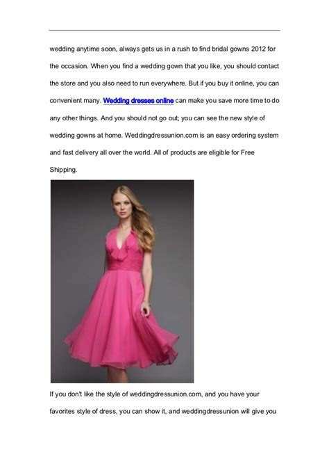 Why don't you buy the wedding dresses online