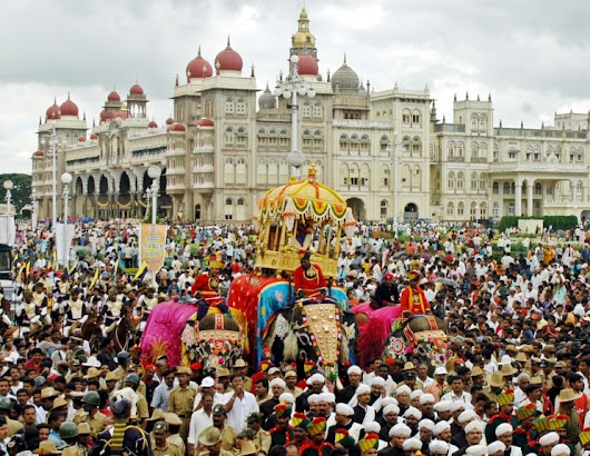 Mysore Dushera Festival Procession & celebration 2017