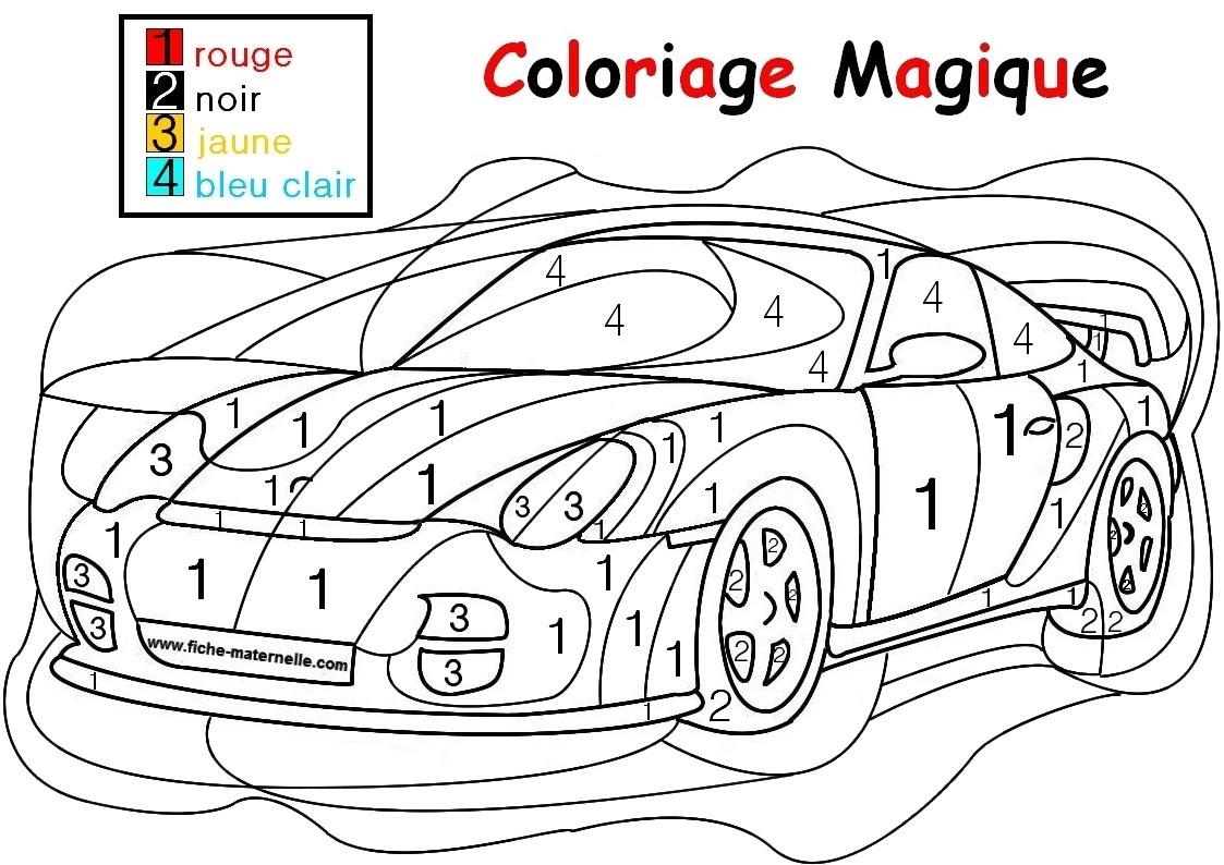 Image Coloriage dessin  numéro gratuit