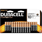 Duracell CopperTop AAA Alkaline Batteries - 24 Pack