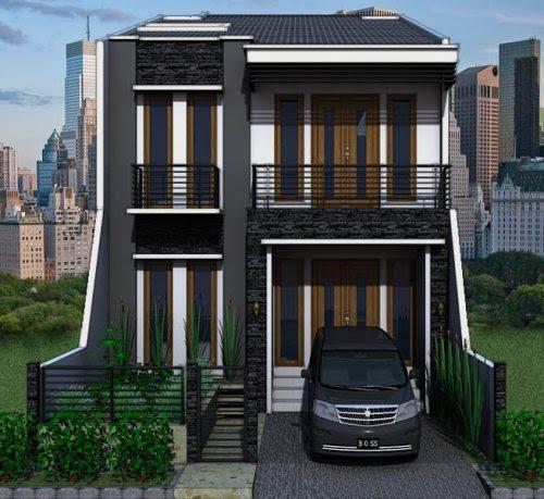 Rumah Minimalis 2 Lantai Tipe 45