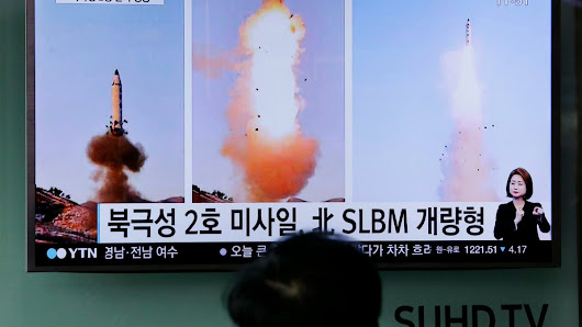 North Korea launches ballistic missile into the Sea of Japan