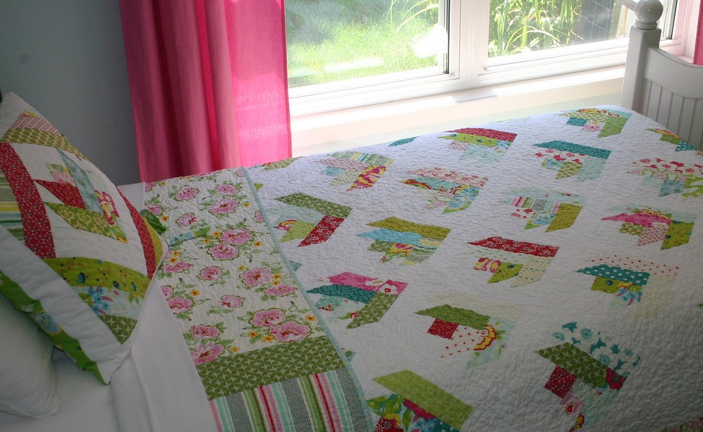 Twin Fibers Floral Bouquet Quilt Finished