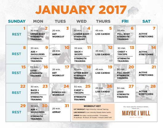 30 Day Workout Schedule