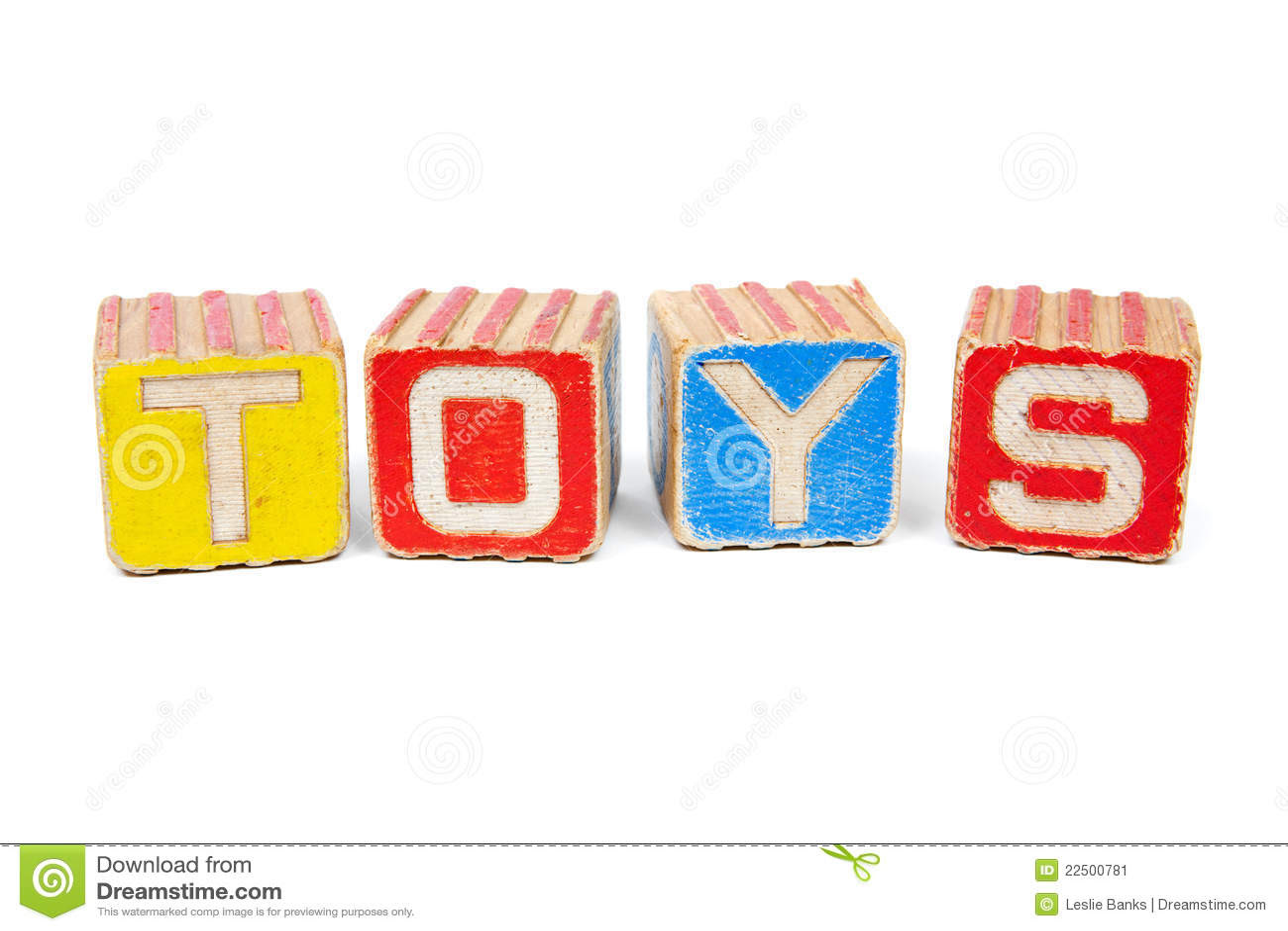 Vintage Wooden Toy Blocks