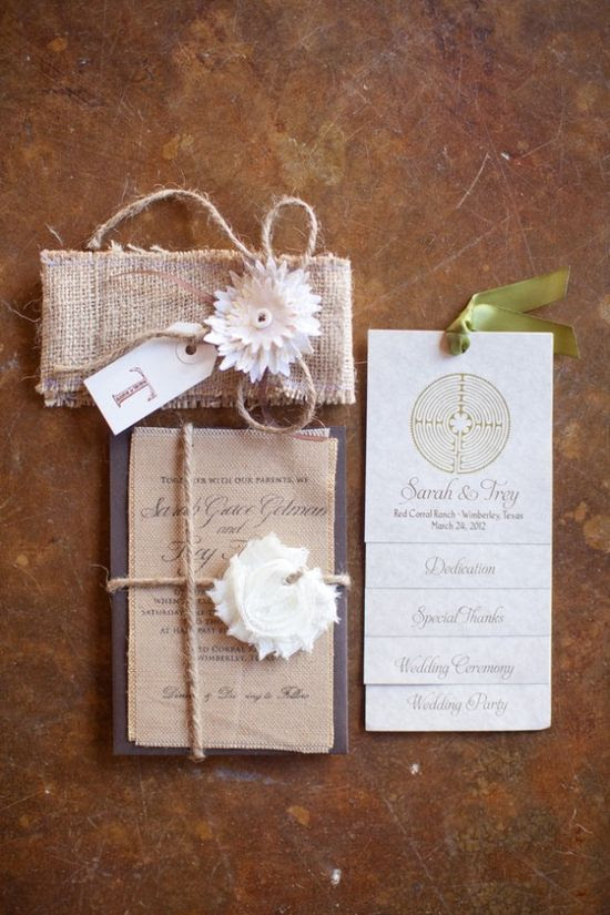 Rustic Country Wedding Invitation & program