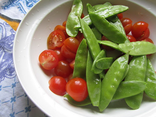 Cherry Tomatoes & Snow Peas
