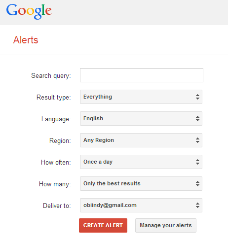 Google Alerts Setting Up Guide and Tutorial