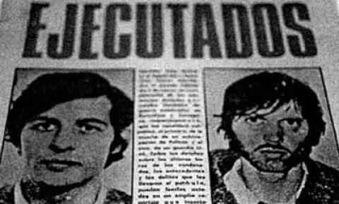 La noticia de la ejecución de Puig Antich y Heinz Chez, en 1974.