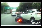 Kecelakaan Akibat Berpindah Lajur Mendadak