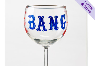 Glass Painting - 'Bang' Wine Glass