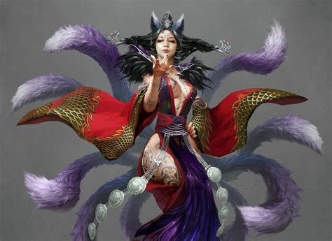 ahri mistic hd wallpaper background image